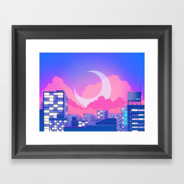 Dreamy Moon Nights Gerahmter Kunstdruck