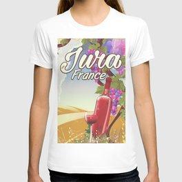 Jura France vineyard vintage travel poster T-shirt