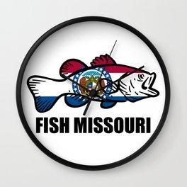 Fish Missouri Wall Clock