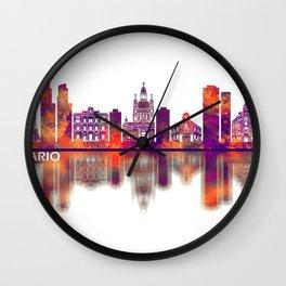 Rosario Argentina Skyline Wall Clock