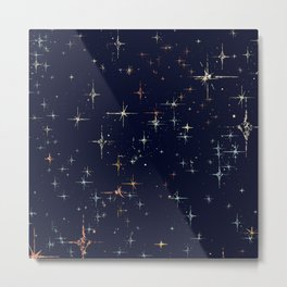 Deep Blue Starscape Stylized Metal Print