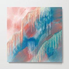 Paint Dripping Metal Print
