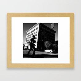 black on black on white on white Framed Art Print