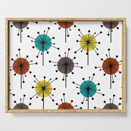 Atomic Era Sputnik Starburst Flowers Serving Tray