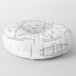 Plan Of Constitution Of Man Floor Pillow