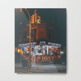 East Village Finest Deli Metal Print