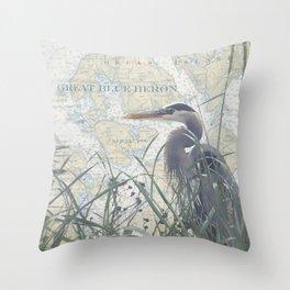 Shaw/Orcas Island Heron Throw Pillow