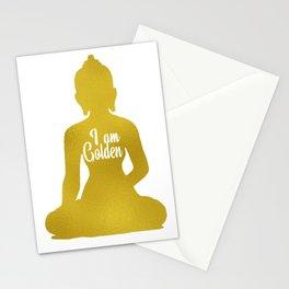 Golden Buddha on White Stationery Cards