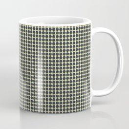 Making Marks Dots Navy/Mustard/Grey Coffee Mug