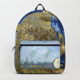Vincent van Gogh - Peasant woman binding sheaves, after Millet - Digital Remastered Edition Backpack