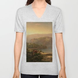 Morning in the Blue Ridge Mountains by William Louis Sonntag Unisex V-Neck