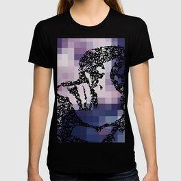 Kanji Calligraphy Art :woman's face #39 T-shirt
