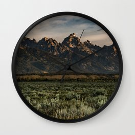 Teton Morning Wall Clock