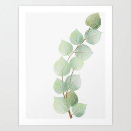 Golden Eucalyptus Minimal III Art Print