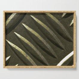 Dark Green Metal Plate Serving Tray