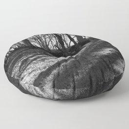 Railway Trees Floor Pillow