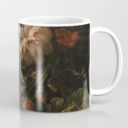 Flowers, Lizards and Insects - Elias van den Broeck (1650-1708) Coffee Mug