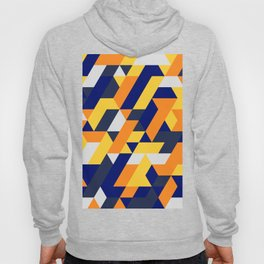 Yellow White And Blue Diamond Abstract Hoody