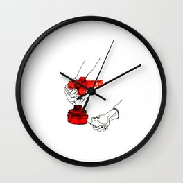 A Female Coffee Barista Wall Clock