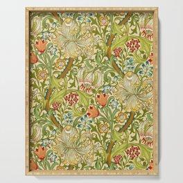 William Morris Golden Lily Vintage Pre-Raphaelite Floral Art Serving Tray