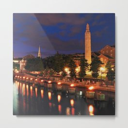 War Memorial Park Waterfire - Providence, Rhode Island Metal Print