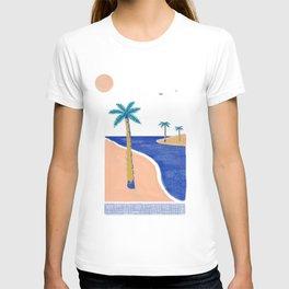 Palm Print Beach Day T-shirt
