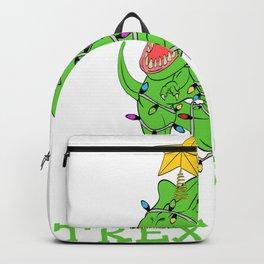"""Christmas Dinosaur Shirt For Animal Lovers """"Trex Tree"""" T-shirt Design Jurassic Park Reptiles Backpack"""