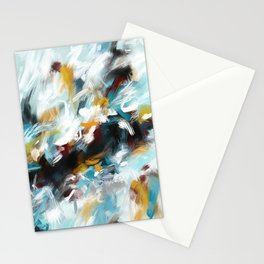 Not the Monday Blues Acrylic Abstract Art Stationery Cards