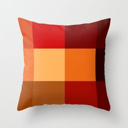 BLOCKS - RED TONES - 2 Throw Pillow