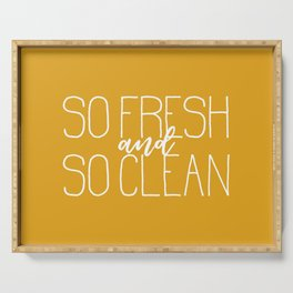 So Fresh and So Clean Yellow Serving Tray
