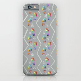 Rainbow Tread with Leaves Pattern iPhone Case