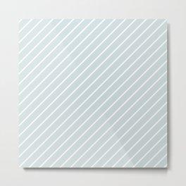 Light Green Diagonal Lines Metal Print