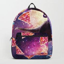 Thug Space Cat On Dinosaur Unicorn - Pizza Backpack