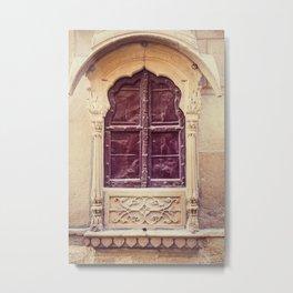 Haveli Window Jaisalmer Rajasthan Metal Print