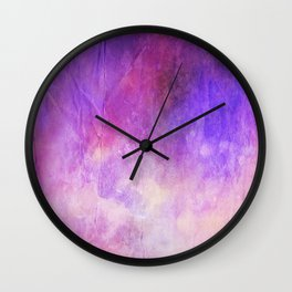 Crumpled Paper Textures Colorful P 726 Wall Clock