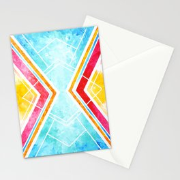 Lake Sunset - Colorful Geometric Stationery Cards