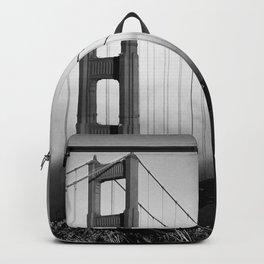 Golden Gate Bridge | Black and White San Francisco Landmark Photography Shot From Marin Headlands Backpack
