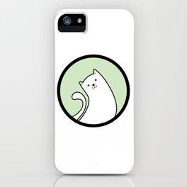 Little White Derpy Kitty iPhone Case