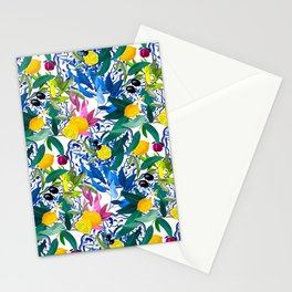 Citrus,lemons,Sicilian,Italian style ,summer pattern  Stationery Cards
