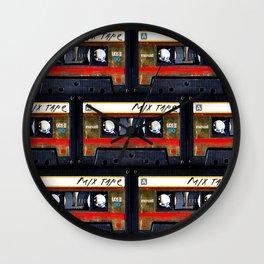 Retro classic vintage gold mix cassette tape Wall Clock
