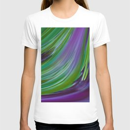 Purple Green Contemporary Abstract T-shirt