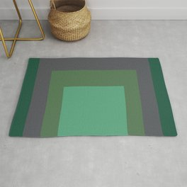 Block Colors - Greens and Grey Rug
