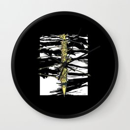 Rowing sport long rowing boat sport competition Wall Clock
