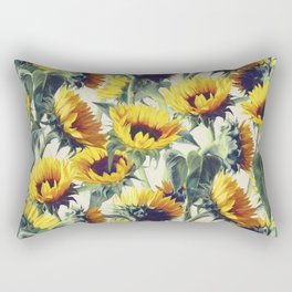 Sunflowers Forever Rechteckiges Kissen