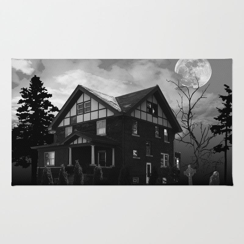 Halloween Haunted House Rug by Melgraham RUG7853795