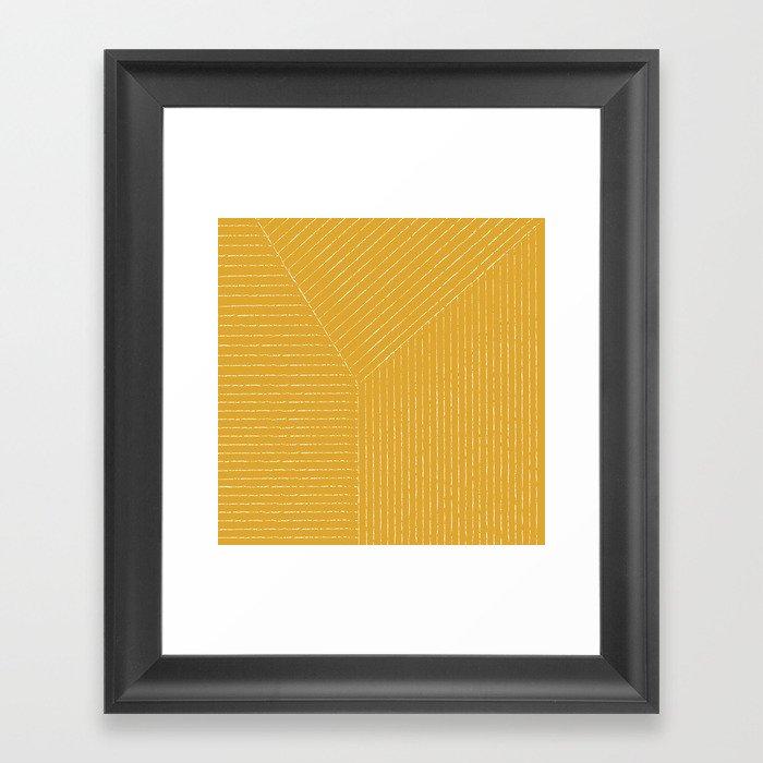 Lines (Mustard Yellow) Gerahmter Kunstdruck
