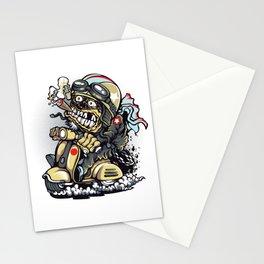 Smoke Skull Driver Moped - Texas cigar Stationery Cards