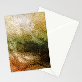 ABSTRACT GOLD TANGERINE AQUARELL Stationery Cards