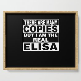 I Am Elisa Funny Personal Personalized Gift Serving Tray