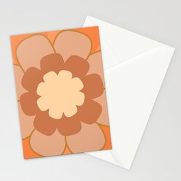 Morelia Flower Single Zoom in Peach Blush Rust Stationery Cards